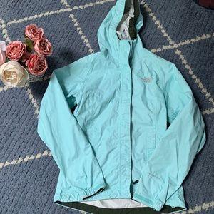 North Face Baby Blue Mint Blue Rain Jacket